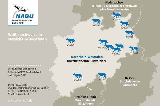 Wölfe In Nrw Karte